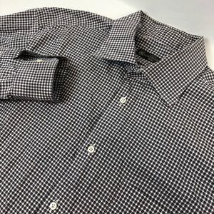 Corneliani Plaid Long Sleeve Button Front Shirt